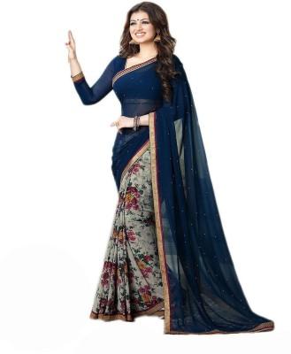 TAPI INTERNATIONAL Printed Fashion Georgette Sari