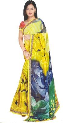 Vashishthalifestyle Printed Fashion Shimmer Fabric Sari
