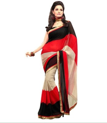 Manvar Enterprise Plain Bollywood Handloom Chiffon Sari