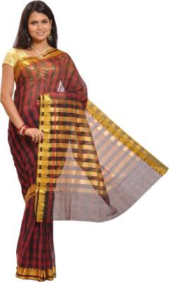 Thamaraigrandies Striped Fashion Art Silk Sari