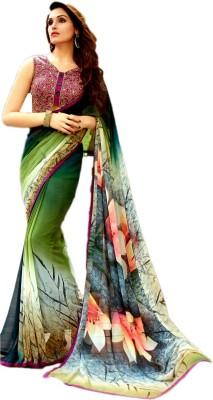 Ganghs Digital Prints, Printed, Floral Print Bollywood Georgette Sari