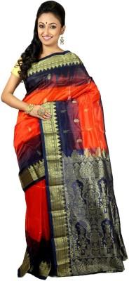 Womilo Self Design Kanjivaram Silk Sari