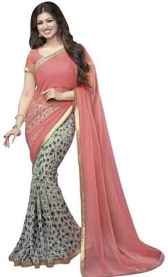 SH Fashion Floral Print Fashion Georgette Sari