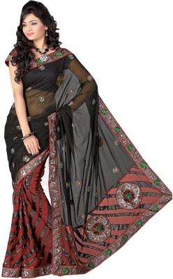 Aaarav Creation Self Design Fashion Georgette, Chiffon, Net Sari