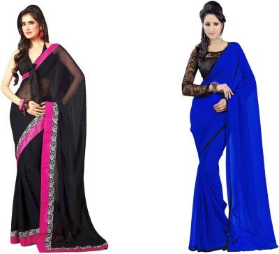 Krishna Creation Embriodered Bollywood Chiffon Sari