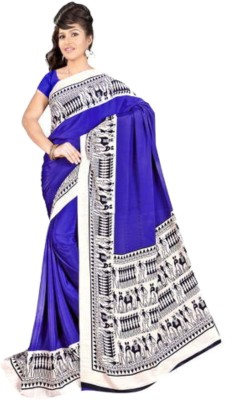 Chirmangal Printed Fashion Synthetic Crepe Sari