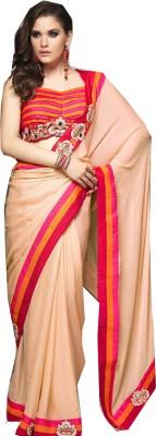 Rajhans Fashion Embellished Kantha Silk, Georgette Sari