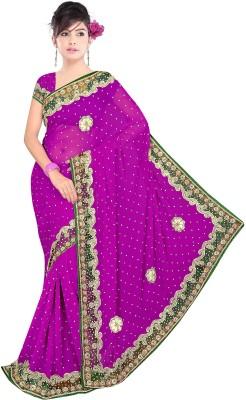 Swami Syntex Embriodered Daily Wear Chiffon Sari