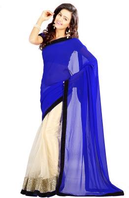 Stylo Designer Self Design Fashion Net, Georgette Sari