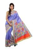 Satrang Printed Daily Wear Raw Silk Sare...