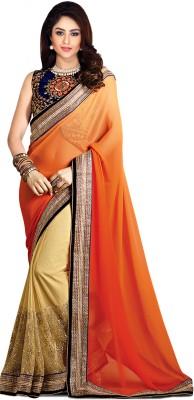 ARsalesIND Embriodered Fashion Chiffon, Net Sari