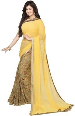 Saumya Designer Solid Bollywood Pure Georgette Sari