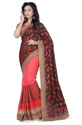 Ethnic And Style Self Design Fashion Georgette Sari