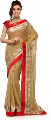 Fabroop Self Design Fashion Chiffon Sari