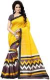 Varibha Solid Fashion Silk Saree (Yellow...