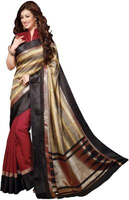 Sarees Rinkesh Printed Bhagalpuri Silk Sari