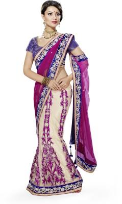 Moh Manthan Self Design Fashion Net Sari(Multicolor) at flipkart