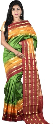 Sri Hanuman Silks Striped Fashion Pure Silk Sari