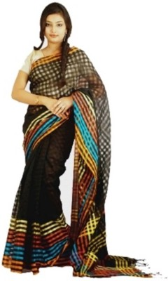Raa Sha Self Design Shantipur Handloom Cotton, Silk Sari