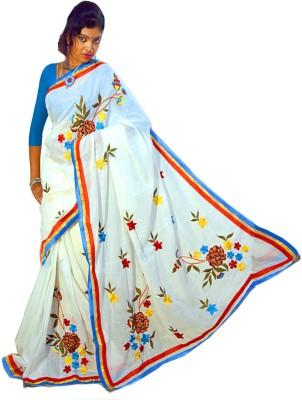 Get Collections Embriodered Fashion Handloom Cotton Sari
