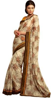 Vonage Floral Print Fashion Silk Sari