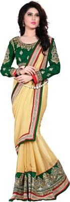 nimi fashion Embriodered, Solid, Self Design Fashion Chiffon Sari