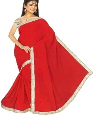 RimiCreations Solid Bollywood Georgette Sari