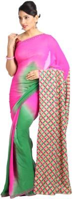 Vandanaraj Printed Phulkari Georgette Sari