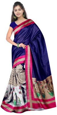 Cutie Pie Printed Daily Wear Handloom Banarasi Silk Sari