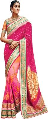 Go Traditional Embriodered Fashion Viscose Sari
