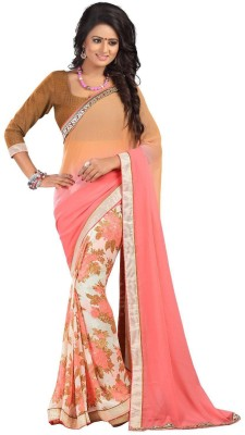 Palav Designer Printed Fashion Pure Georgette Sari
