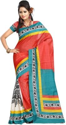 K D Collection Printed Bhagalpuri Art Silk Sari