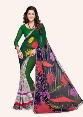 Airs Fashion Printed Daily Wear Chiffon Sari