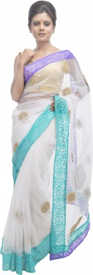 Retaaz Self Design, Applique Bollywood Net, Brasso Sari