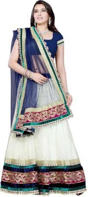 Ruda Self Design Lehenga Saree Handloom Net Sari