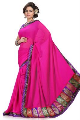 Preeti Solid, Self Design Bollywood Chiffon Sari