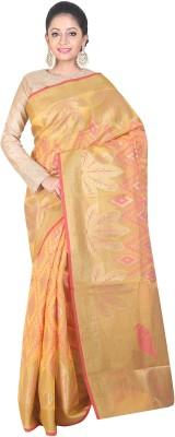 SSPK Embellished Banarasi Handloom Silk Cotton Blend Sari