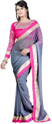 Abhinal Fashion Embriodered, Solid Fashion Chiffon Sari