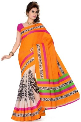 Frocksme Printed Bollywood Pure Silk Sari