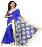 STYLO SAREES Embroidered Bollywood Georg...