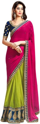 Jess Kreations Embriodered Fashion Georgette Sari