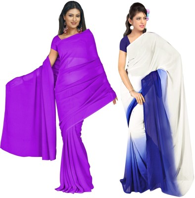 Nairiti Fashions Self Design Fashion Georgette Sari
