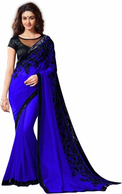 AahnaFashion Embriodered Bollywood Chiffon Sari