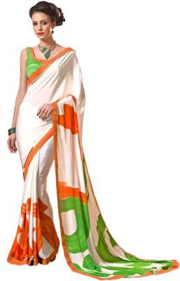 Zemi Printed Fashion Crepe Sari