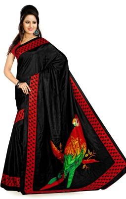 Plenova Printed Fashion Printed Silk Sari