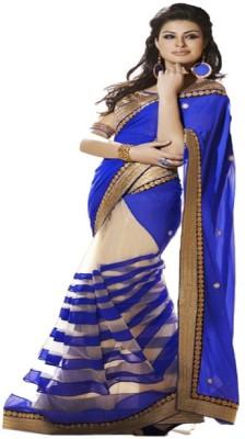 Wowcreation Self Design Bollywood Handloom Chiffon, Net Sari