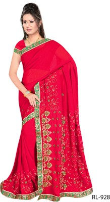 Salasar Embriodered Fashion Synthetic Georgette Sari