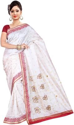 Raj Creative Embriodered Tanchoi Handloom Silk Sari