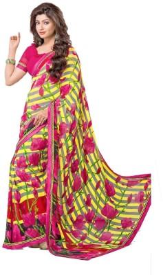 Fadattire Floral Print Fashion Georgette Sari
