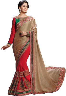 Varnilifestyle Embriodered Fashion Pure Georgette Sari